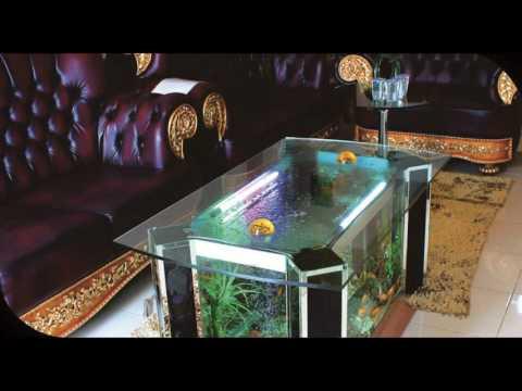 Desain Akuarium Ruang Tamu  keren 21 desain meja akuarium kaca mini dan unik untuk