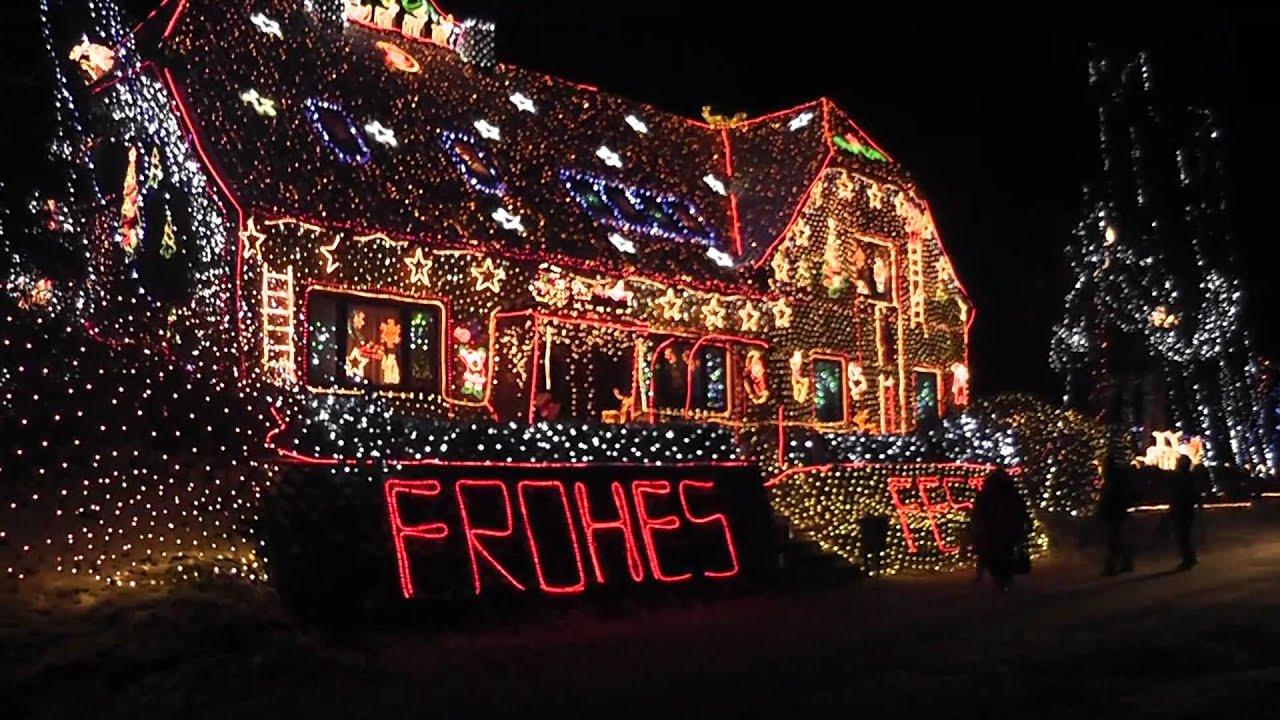 Amerikanische Weihnachtsbeleuchtung.420 000 Lichter Weihnachtshaus In Calle 2010