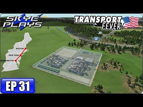 Transport Fever Let's Play / Gameplay BOS-WASH Ep 31 - MORE SOLUTIONS MORE PROBLEMS!