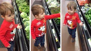 Adorable Toddler Loves Vegetables
