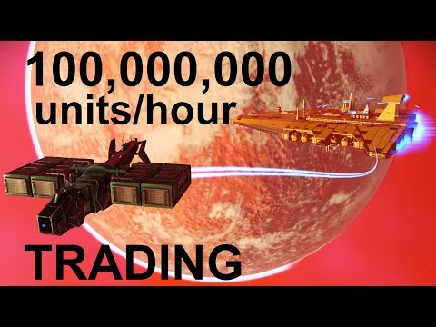 No Man's Sky 1.37 - making 100,000,000 units/hour trading crashed Economy Trade Items