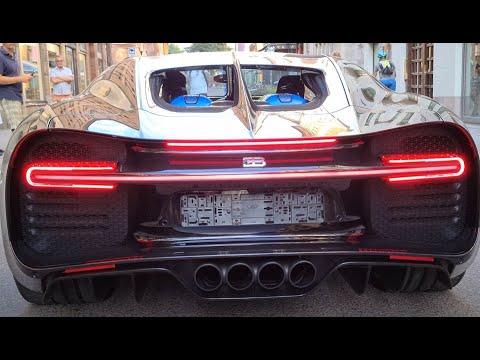 [8k] STARTUP Bugatti Chiron Sport at Bentley McLaren Stockholm Sweden For Sale