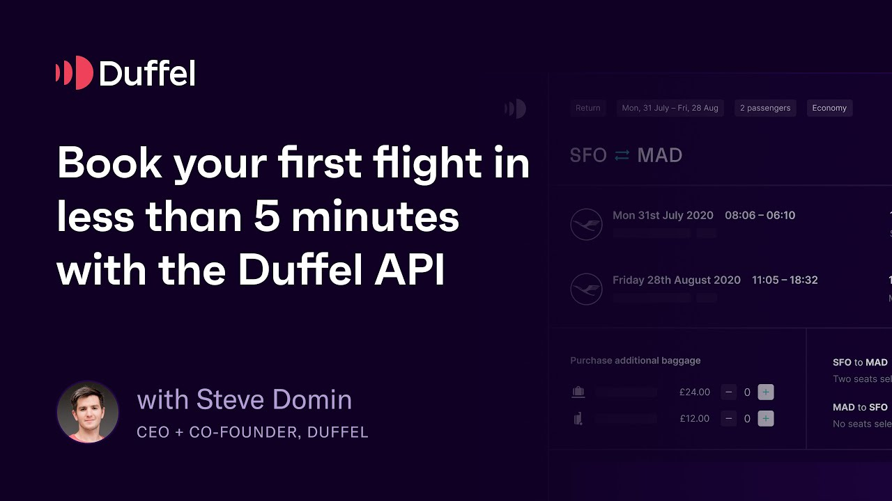 Download Book your first real flight in 5 minutes with the Duffel API