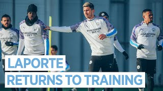 LAPORTE IS BACK AND MENDY LEARNS A NEW TRICK | MAN CITY TRAINING