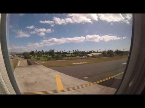 ANA NH185 taking off from Honolulu International Airport (HNL/PHNL) via Runway 8R