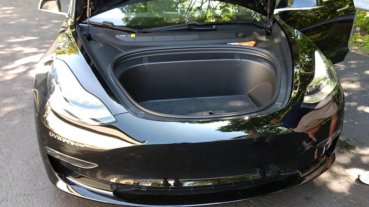 Tesla Model 3 Front Trunk Opening The Door And Look Around