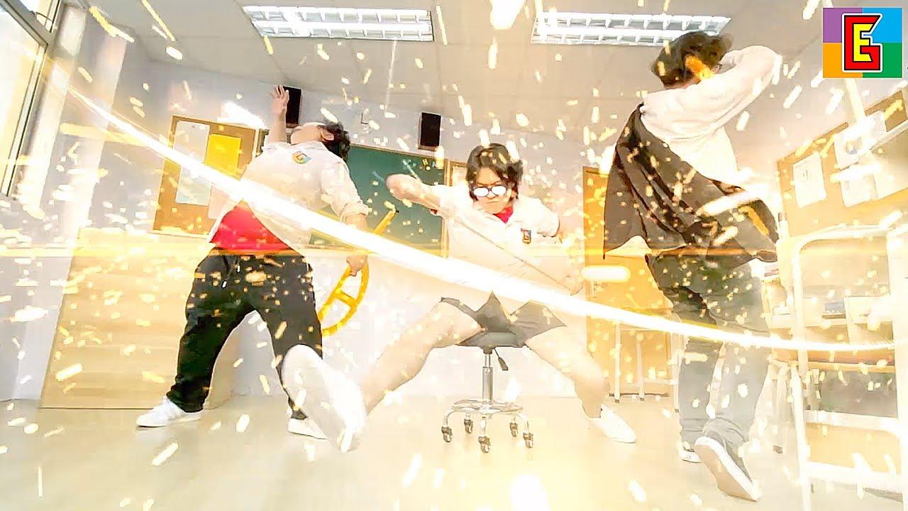 EPIC SCHOOL FIGHT 🔥 中二病 Ruler Samurai 定規サムライ
