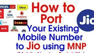 How to do MNP in jio