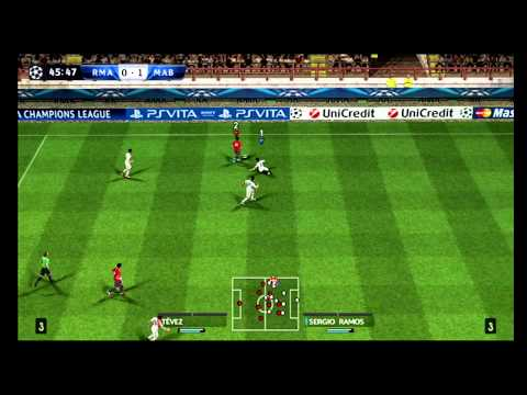 Real Madrid - Manchester City (Pes 2013 wii gameplay) HD