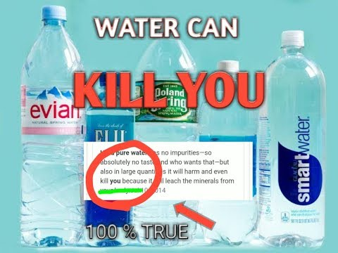 Your Drinking Water May Kill You Truth About Purified Water Mineral Water And Hard Water Youtube