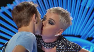 'American Idol' Contestant Calls Unwanted Kiss from Judge Katy Perry 'Uncomfortable'