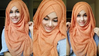 Without inner cap summer hijab tutorial || Noshin Nower ❤