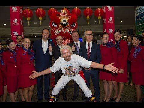 Virgin Australia's inaugural Melbourne to Hong Kong service