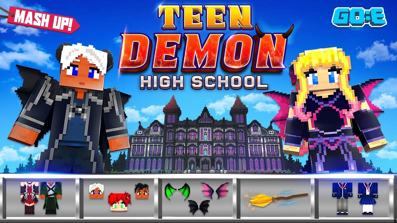 Teen Demon High School : A Minecraft Marketplace Mash-Up - YouTube