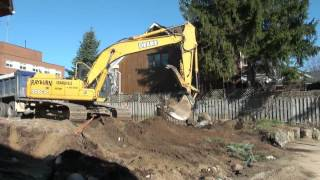 getting free dirt from the new funeral home expansion