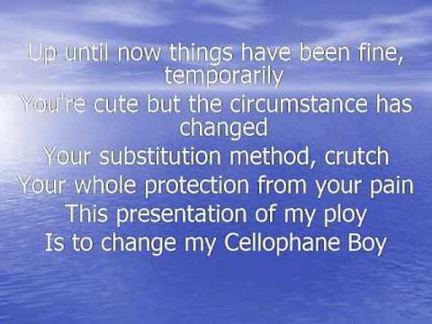 No Doubt - Cellophane Boy Lyrics