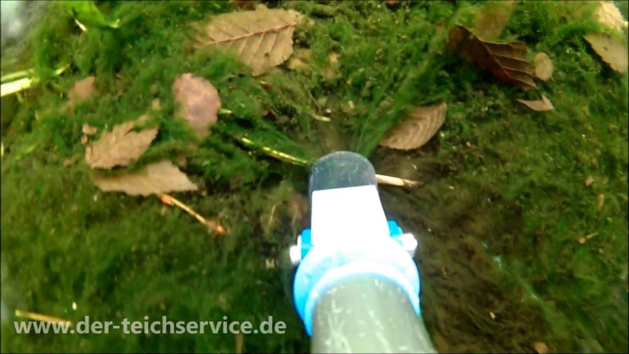 Der Teichservice Teichreinigung Mit Teichschlammsauger Youtube