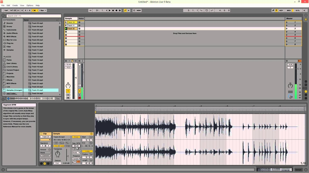 Quick and Easy Sample Warping in Ableton Live