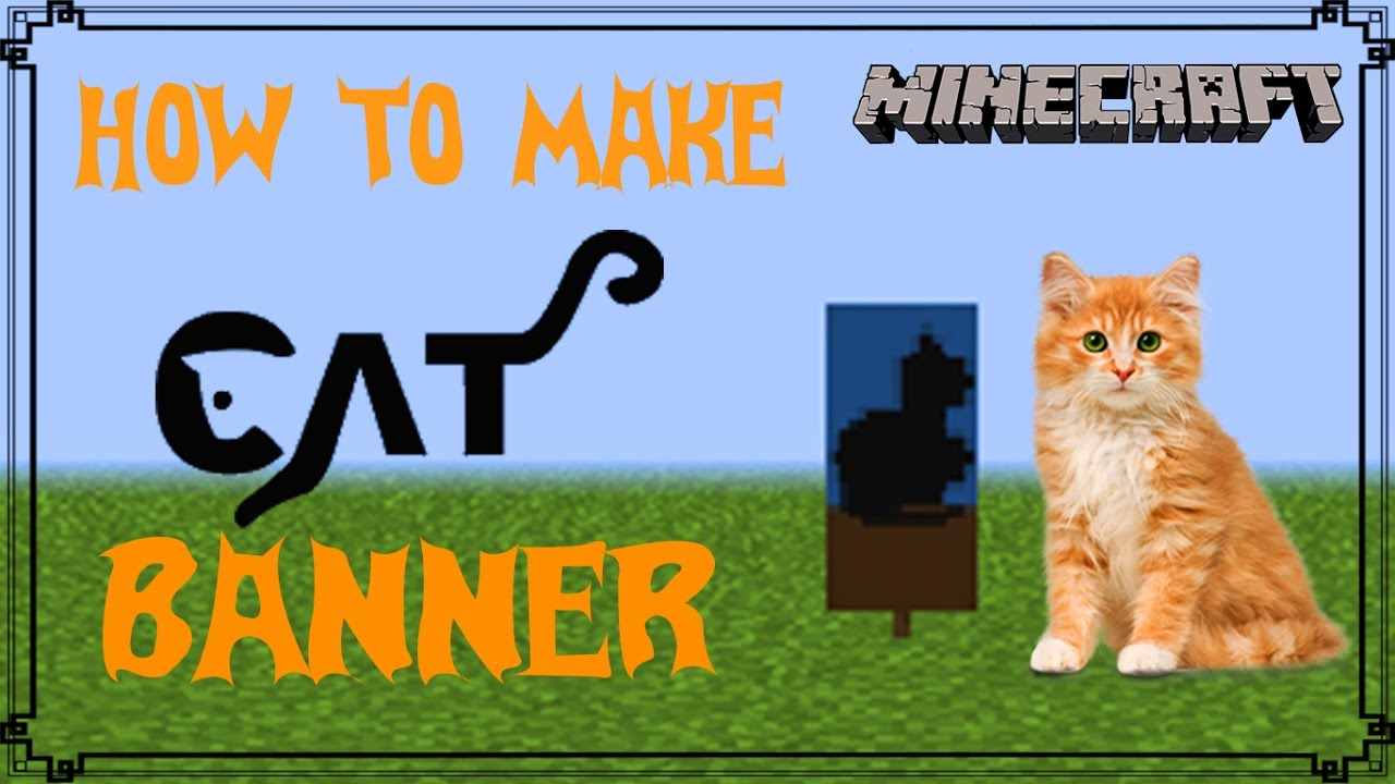 Minecraft How To Make Cat Banner Mangoman Youtube