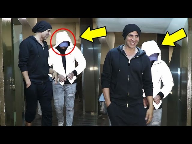 Akshay Kumar's Son Aarav CAUGHT Hiding Face From Media - Akki's Reaction Is Mind Blowing