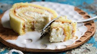 Бисквитный Рулет - НЕ ТРЕСКАЕТСЯ (рецепт бисквита)🍴Жизнь - Вкусная!