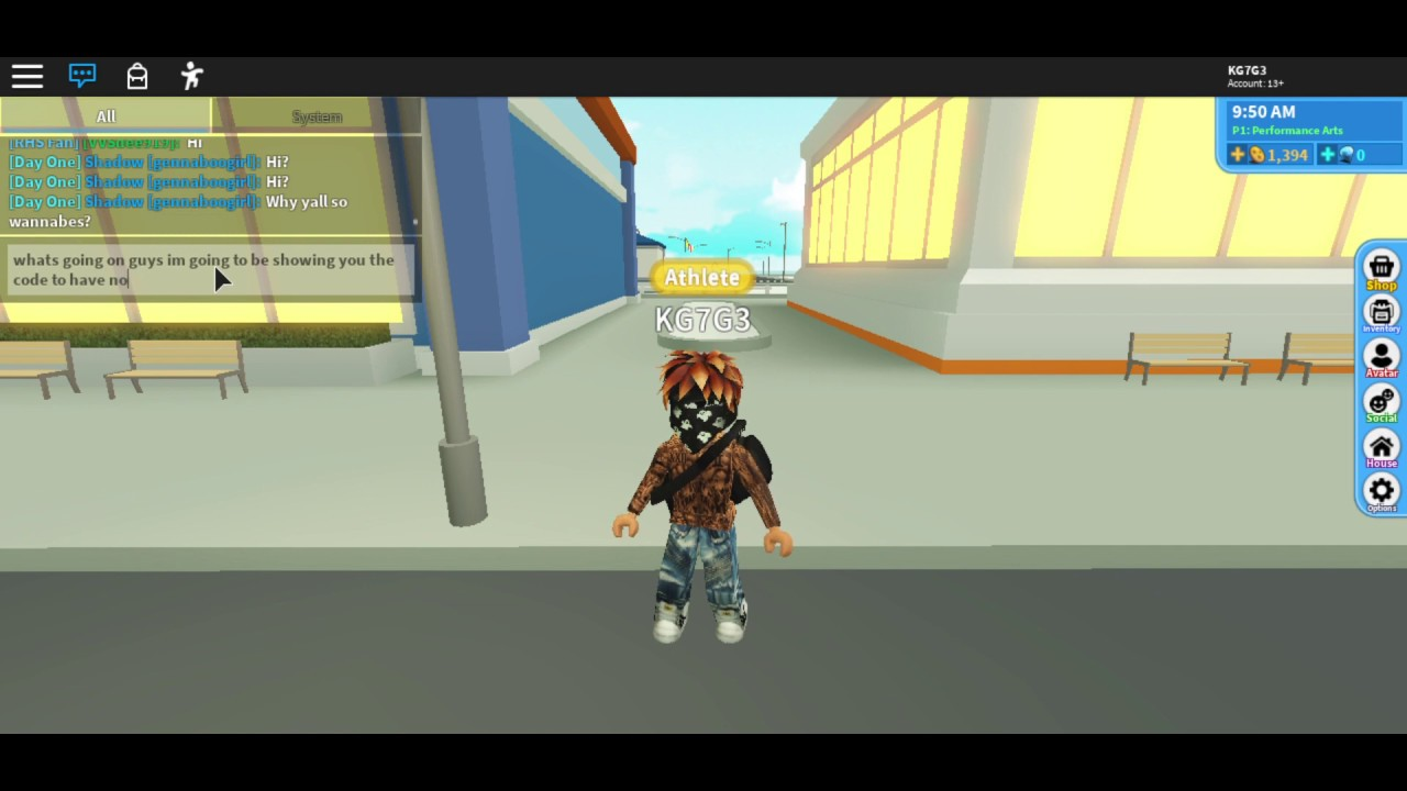 Roblox Code To Have No Face And Duffle Bag Youtube