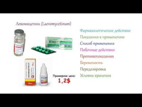 Левомицетин - инструкция по применению, способ применения, побочные действия
