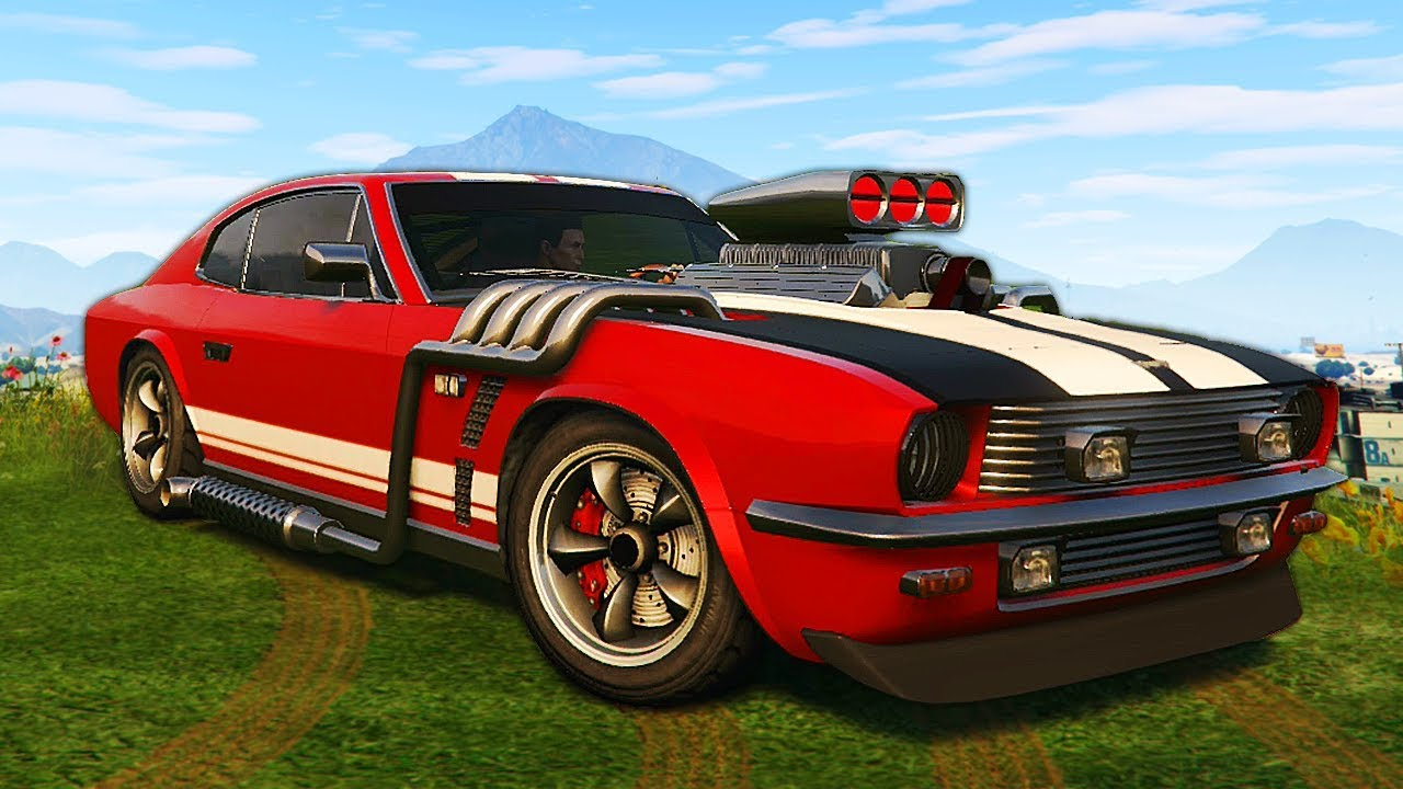 crazy new muscle car! - grand theft auto 5 (new gta 5 dlc) - youtube