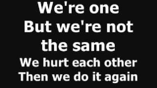 Mary J blige and U2 - One Love [ nie karaoke ] tekst napisy słowa