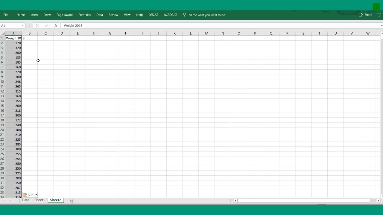 Independent T Test Excel Example Youtube