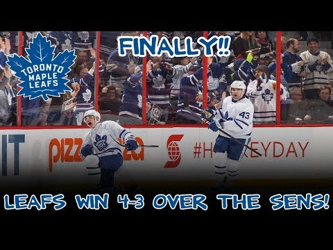 Toronto Maple Leafs Win 4-3 Over The Sens! FINALLY!