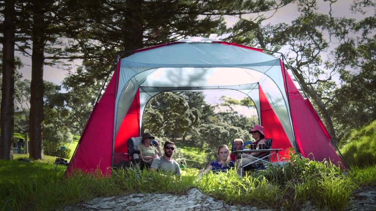 & Retreat tent camping range - YouTube