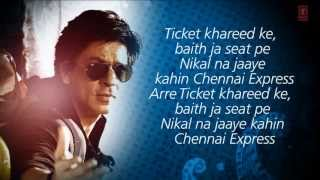 Chennai Express Full Title Song With Lyrics HD