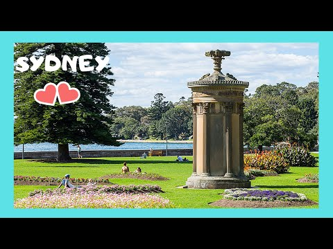 SYDNEY, a piece of classical ATHENS and GREECE in the BOTANIC GARDENS (Australia)