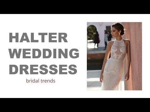 Bridal Trends: Halter Wedding Dresses