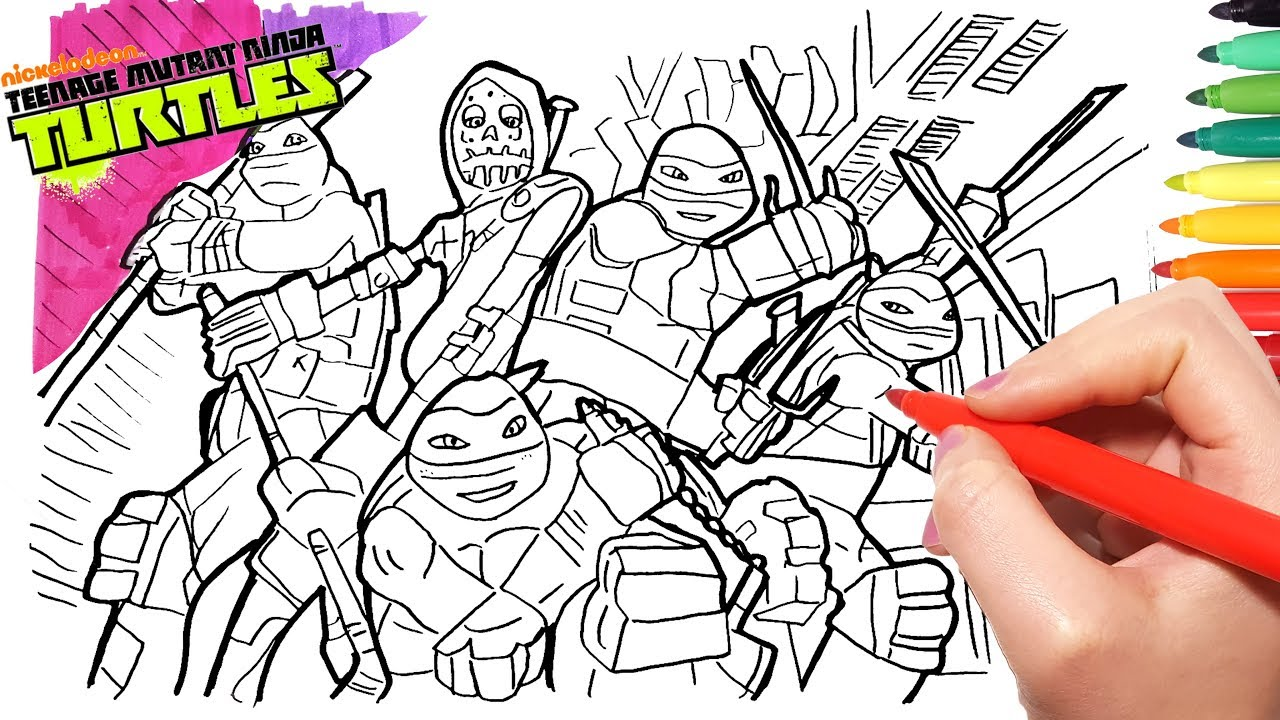 TMNT TEENAGE MUTANT NINJA TURTLES Coloring Pages | Learn Ninja ...
