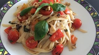 Capsicum, Walnut & Cherry Tomato Pasta