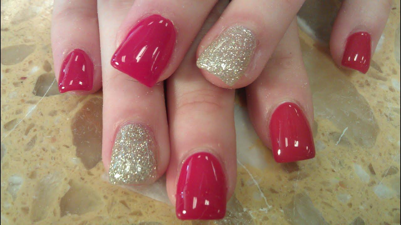 gel polish acrylic nails