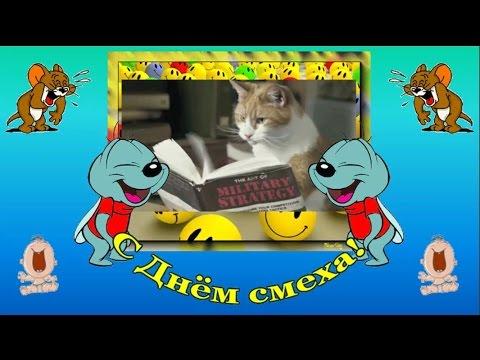 Смешное поздравление с 1 апреля.  1 апреля. День смеха. Смехотерапия. Видео открытка с Днем смеха. - Популярные видеоролики!