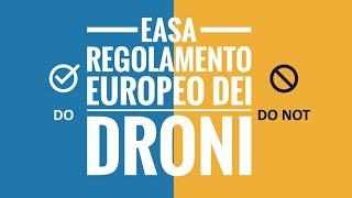 DRONI E REGOLAMENTO EUROPEO EASA - COSA FACCIAMO CON ENAC NEL FRATTEMPO?