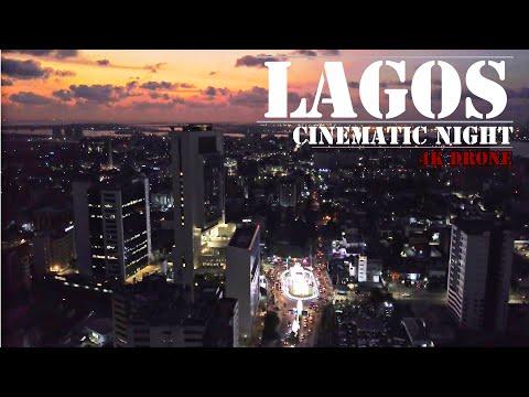 Download Lagos NIGERIA- 4K ULTRA HD VIDEO Drone Night Footage - Victoria Island - Lagos Island - eko atlantic