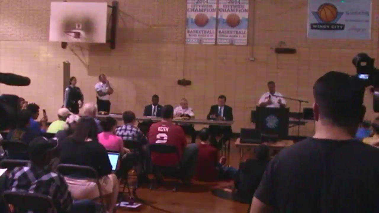 Community Meeting on Rogers Park Murders (see how whites get together after 2 murders)