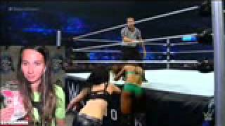 WWE Smackdown June,19, 2015 Paige vs Alicia Fox