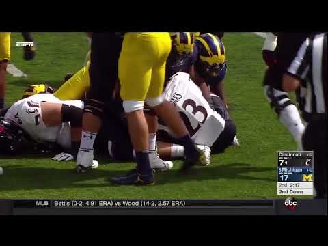 2017 Michigan Football Highlights v. Cincinnati
