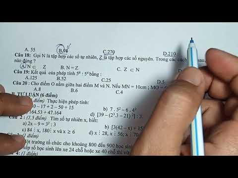TOÁN 6  giải đề thi học kì 1 môn toán 6 - 2020 2021 chuẩn ôn thi
