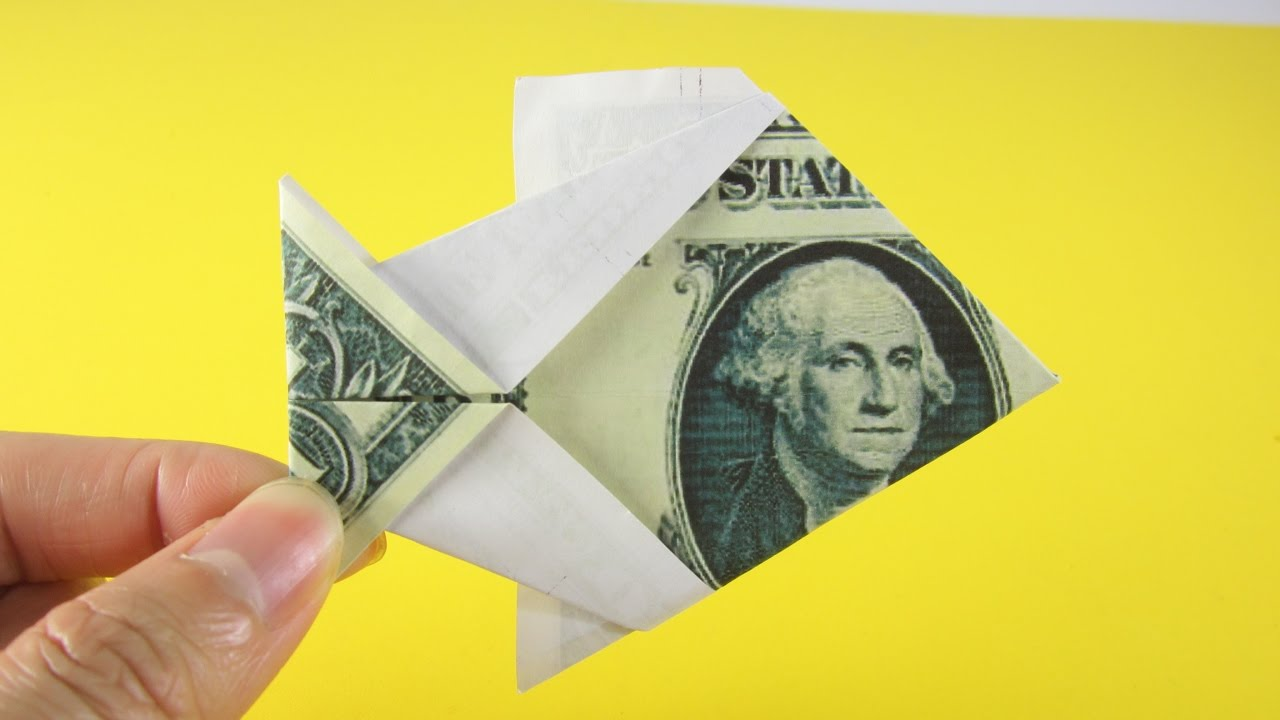 Origami money how to fold a 1 fish youtube origami money how to fold a 1 fish jeuxipadfo Choice Image