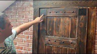 как сделать двери под старину