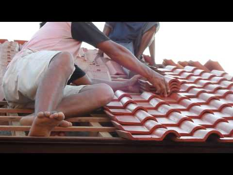 How to install terracotta roof tiles