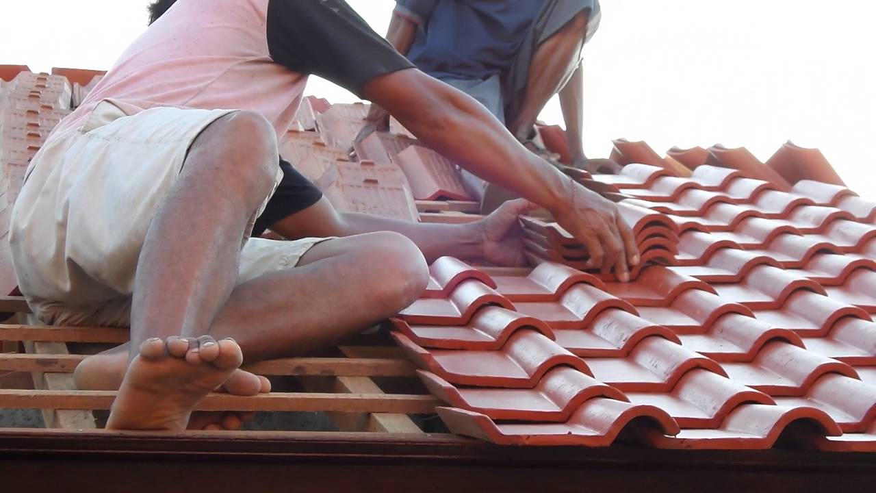 how to install terracotta roof tiles - youtube