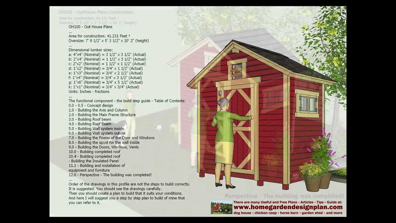 Oh100 out house plans construction out house design for How to be a house designer